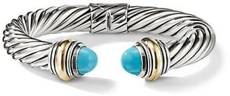 David Yurman Cable Classics Bracelet with Gemstone 14K Yellow Gold/10mm