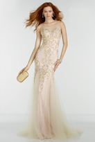 Alyce Paris - 6600 Prom Dress in Nude Gold