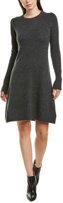 White + Warren Puff-Shoulder Sweaterdress
