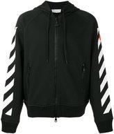 Moncler stripe zip-up hoodie - men - Cotton - XL