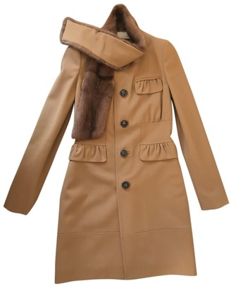 DSQUARED2 Camel Mink Coat for Women