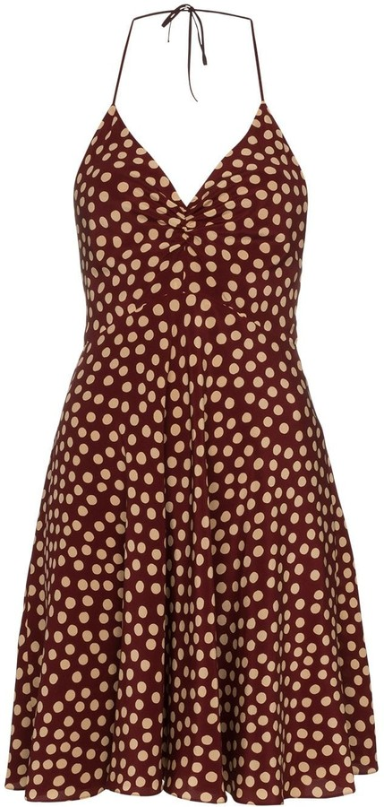 Saint Laurent polka-dot mini dress