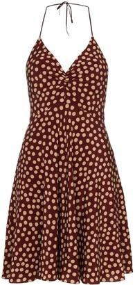 Saint Laurent polka-dot mini dress