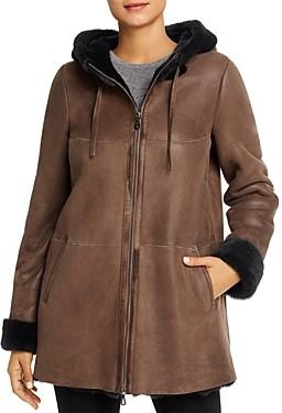 Maximilian Furs Hooded Shearling Coat - 100% Exclusive