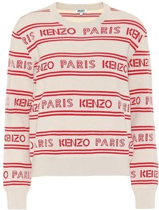 Kenzo Logo jacquard cotton-blend sweater