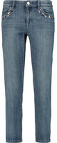 MICHAEL Michael Kors Embellished Low-Rise Skinny Jeans