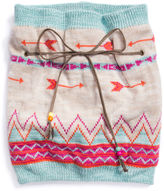 Muk Luks Free Fairisle Loop Knit Cold Weather Scarf