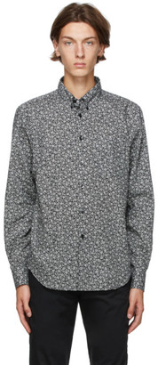 Naked and Famous Denim Black Flowers Easy Shirt