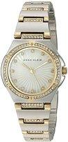 Anne Klein Women's AK/2417MPTT Swarovski Crystal Accented Two-Tone Bracelet Watch