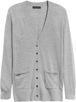 Banana Republic Petite Merino Long Cardigan Sweater in Responsible Wool