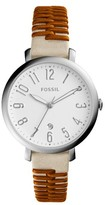 Fossil Women's Jacqueline Leather Strap Watch, 36Mm