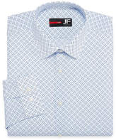 Jf J.Ferrar Easy-Care Stretch Big & Tall Long Sleeve Broadcloth Diamond Dress Shirt