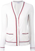 Thom Browne striped V-neck cardigan - women - Wool - 38