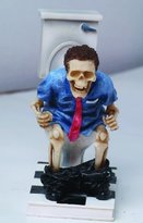 PacificGift Still Constipated Skeleton Figurine