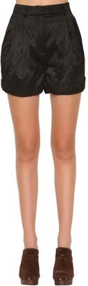 Philosophy di Lorenzo Serafini High Waist Wrinkled Duchesse Shorts