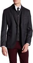 JKT NEW YORK Royal Grey Two Button Notch Lapel Wool Jacket