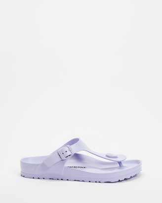 Birkenstock Women's Purple Flat Sandals - Gizeh EVA - Women's - Size 35 at The Iconic