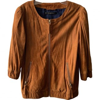 Madame à Paris Camel Suede Leather Jacket for Women