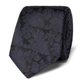 Dolce & Gabbana 6cm Floral Silk-jacquard Tie - Black