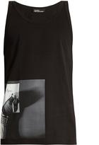Raf Simons Hand-print cotton tank top