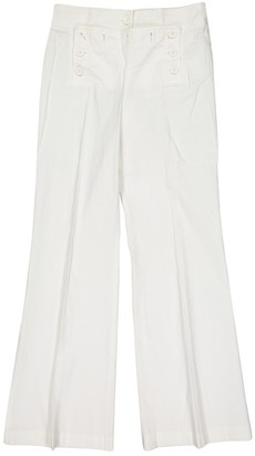 Tory Burch White Cotton Trousers for Women