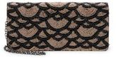 La Regale Fully Beaded Faux Leather Convertible Clutch