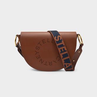 Stella McCartney Handbag Flap Shoulder In Brown Synthetic Leather
