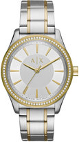 Armani Exchange A|X Women's Two-Tone Stainless Steel Bracelet Watch 36mm AX5446