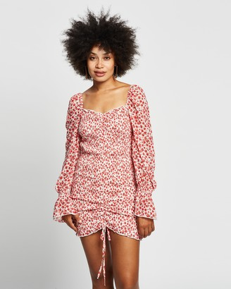 Reverse Ruched Mini Dress