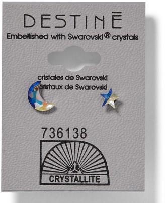 Crystallite 931 AB Moon & Star Earrings