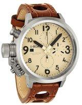 U-Boat Flightdeck Chronograph Beige Dial Leather Mens Watch 6251