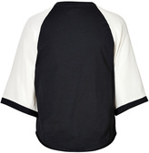 3.1 Phillip Lim 3/4 Sleeve Cotton Jersey Baseball T-Shirt