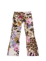 Roberto Cavalli 5 Pocket Printed Elephant Foot Jeans