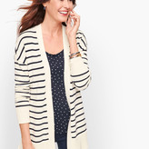 Talbots Stripe Belted Cardigan