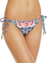 Nanette Lepore In the Tropics Vamp Printed Side Tie Bikini Bottom - 100% Exclusive