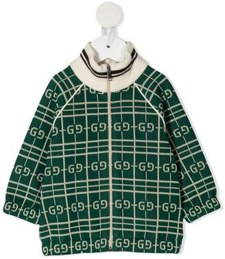 Gucci Kids GG zip-front cardigan