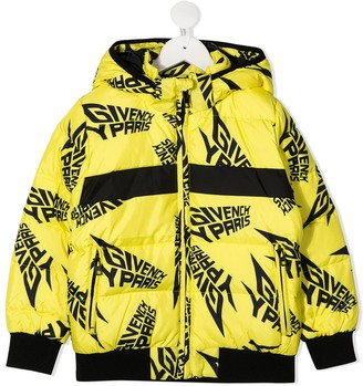 Givenchy Kids Graphic-Print Hooded Jacket