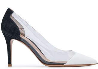 Gianvito Rossi PVC-panel 90mm pumps