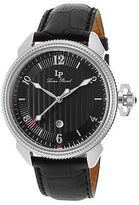 Lucien Piccard 40053-01 Men's Trevi Black Genuine Leather and Dial