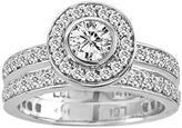 Ice 1 1/2 CT TW Diamond 14K Polished White Gold Bridal Set