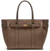 Mulberry Zipped Bayswater Leather Satchel - Grey