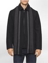 Calvin Klein Short Scarf Wool Coat