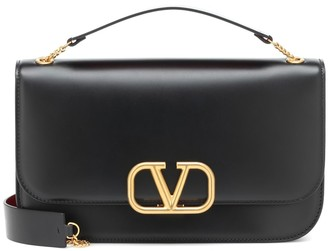 Valentino VLOCK Medium leather clutch