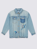 Marks and Spencer Embroidered Denim Jacket (3-14 Years)