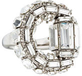 Gucci Maxime Crystal Horsebit Cocktail Ring
