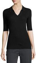 Vince Skinny-Ribbed Polo Shirt