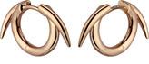 Shaun Leane Sterling silver rose gold vermeil thorned hoop earrings