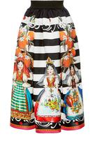 Dolce & Gabbana Bambole Print Mikado Skirt