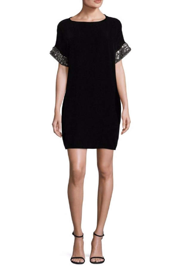Carmen Marc Valvo Short Sleeve Dress