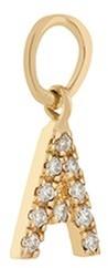 Loquet London Diamond 18k yellow gold letter charm A